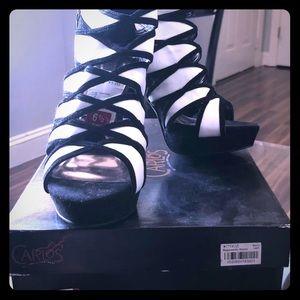 Carlos Santana-New 6.5 Black &White Suede
